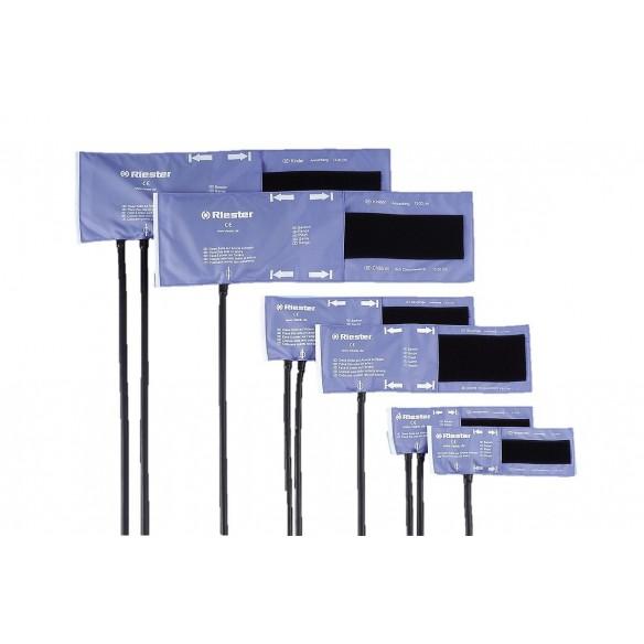 Brassard velcro 2 tubes, adultes 54,5 x 14,5 cm, sans latex, noir