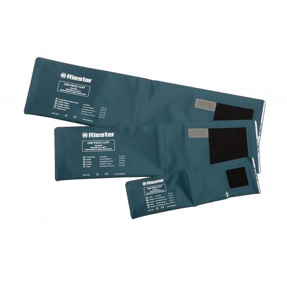 Brassard velcro 2 tubes  adultes 54 5 x 14 5 cm  sans latex  noir