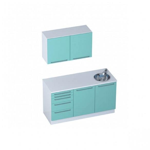Mobilier Cabinet Médical - Module SMART + meubles hauts 2 portes