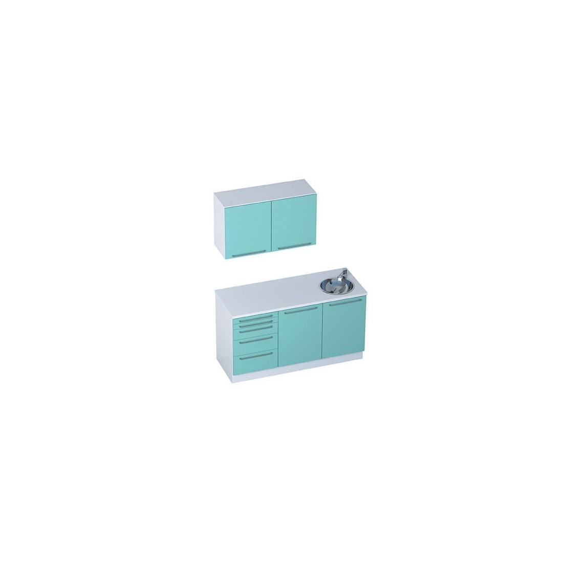 mobilier m dical module smart meuble haut 2 portes. Black Bedroom Furniture Sets. Home Design Ideas