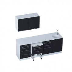 Mobilier Cabinet Médical - Module SELECT + meubles hauts 2 portes