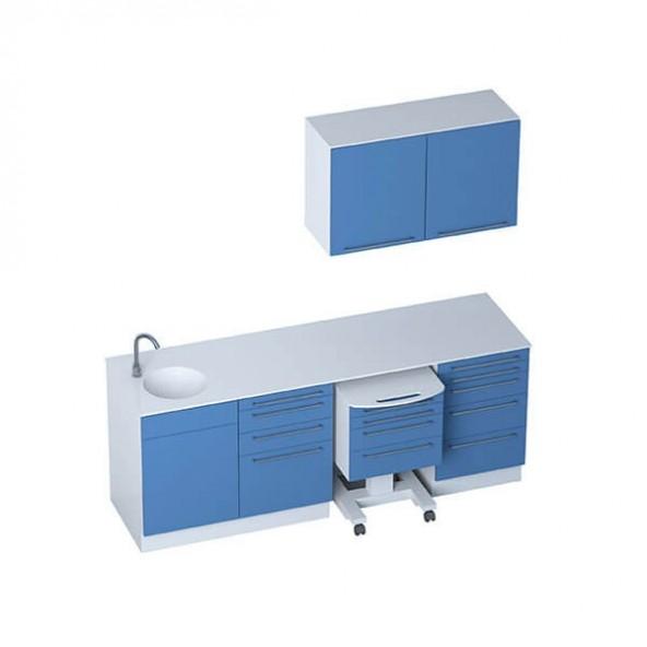 Medizinische Büromöbel - Module SELECT + 2-türigen Hochschränken