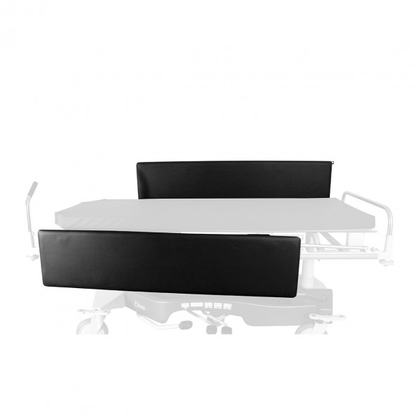 Pair of padded cotside bumpers