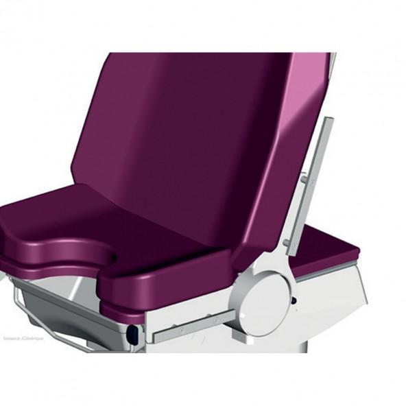 Stainless steel backrest rail