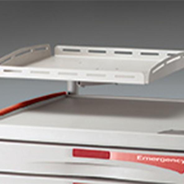 Defibrillator shelf