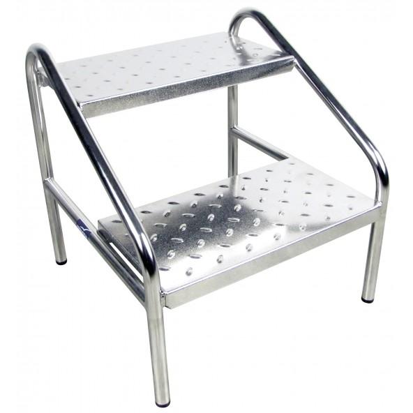 marche pied inox, mobilier de bloc opératoire