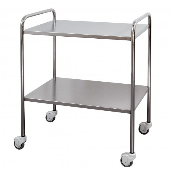 Stainless steel trolley with round tube