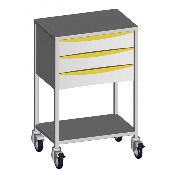 Anaesthesia trolleys  3 drawers of 120 mm