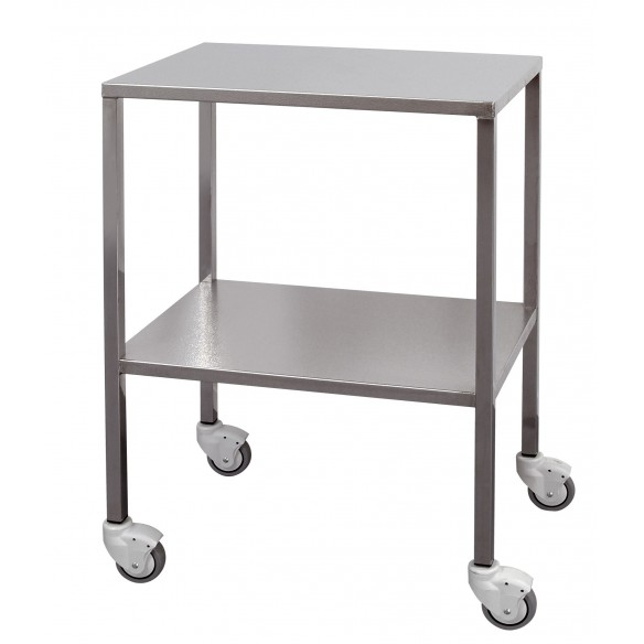Stainless steel trolley with square tube