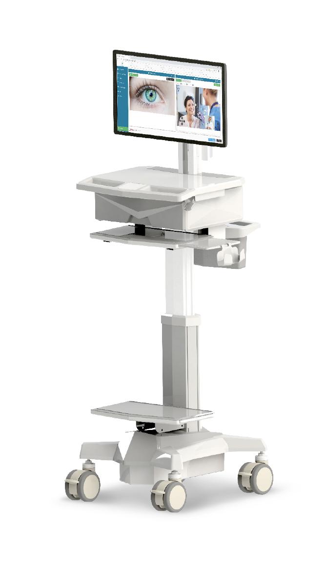 Chariot médical essentiel avec hauteur variable manuelle