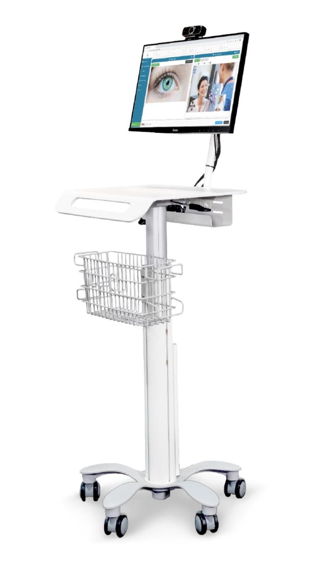 Station de travail ultra compacte avec fixation VESA pour écran LCD