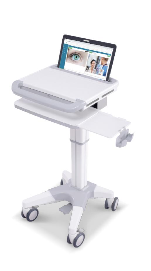 Station de travail mobile pour ordinateur portable écran 17 pouces et hauteur variable au pied